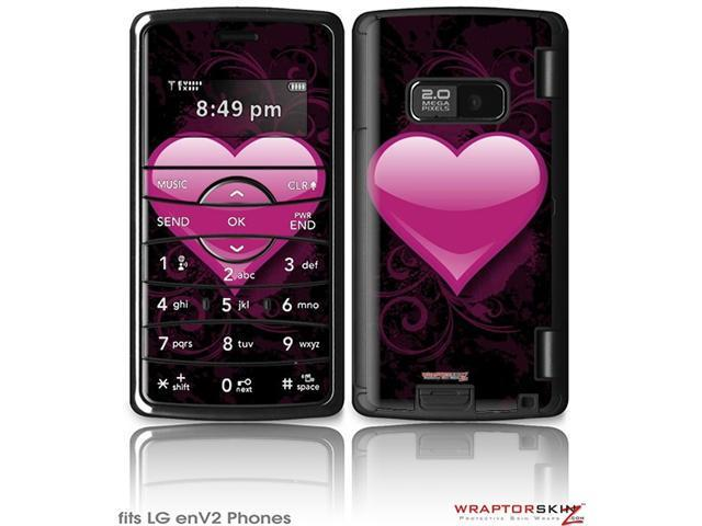 LG enV2 Decal Style Skin - Glass Heart Grunge