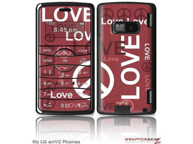 LG enV2 Decal Style Skin - Love and Peace