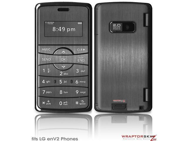 LG enV2 Decal Style Skin - Brushed Metal Silver