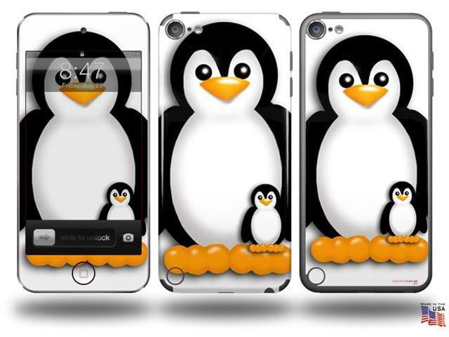 Penguins on White Decal Style Vinyl Skin - fits Apple iPod Touch 5G (IPOD NOT INCLUDED)