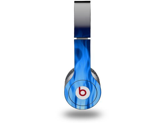 Fire Blue Decal Style Skin (fits genuine Beats Solo HD Headphones - HEADPHONES NOT INCLUDED)