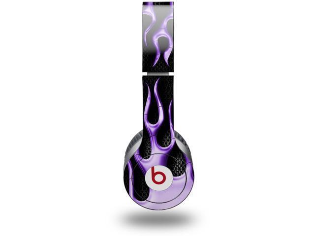 Metal Flames Purple Decal Style Skin (fits genuine Beats Solo HD Headphones - HEADPHONES NOT INCLUDED)