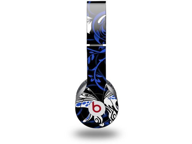 Twisted Garden Blue and White Decal Style Skin (fits genuine Beats Solo HD Headphones - HEADPHONES NOT INCLUDED)