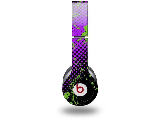 Halftone Splatter Green Purple Decal Style Decal Style Skin (fits genuine Beats Solo HD Headphones - HEADPHONES NOT INCLUDED)