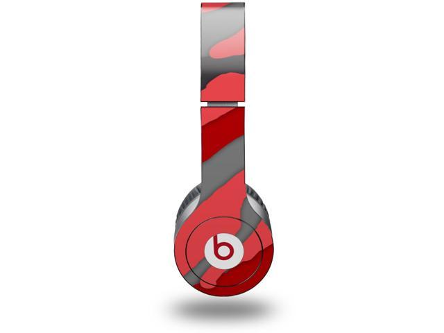 Camouflage Red Decal Style Skin (fits genuine Beats Solo HD Headphones - HEADPHONES NOT INCLUDED)