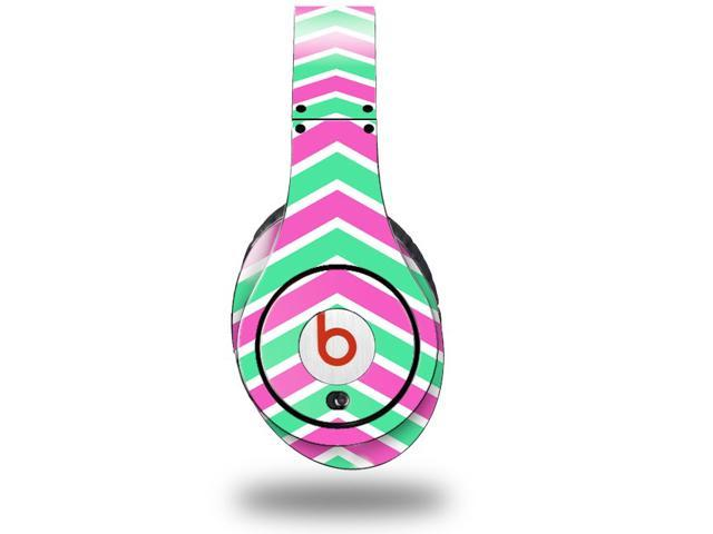 Zig Zag Teal Green and Pink Decal Style Skin (fits genuine Beats Studio Headphones - HEADPHONES NOT INCLUDED)