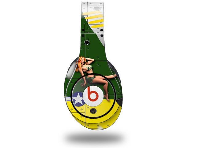 WWII Bomber Plane Pin Up Girl Decal Style Skin (fits genuine Beats Studio Headphones - HEADPHONES NOT INCLUDED)