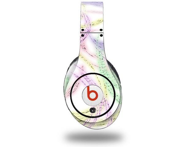 Neon Swoosh on White Decal Style Skin (fits genuine Beats Studio Headphones - HEADPHONES NOT INCLUDED)