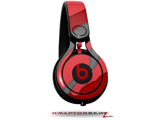 Camouflage Red Decal Style Skin (fits genuine Beats Mixr Headphones - HEADPHONES NOT INCLUDED)