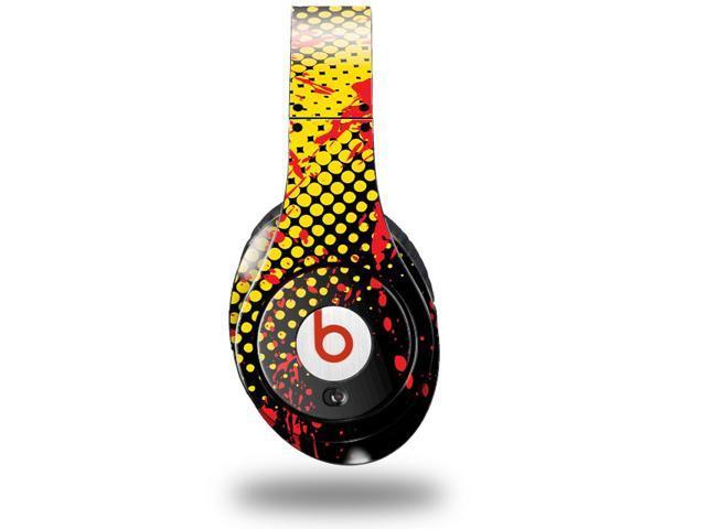 Halftone Splatter Yellow Red Decal Style Skin (fits genuine Beats Studio Headphones - HEADPHONES NOT INCLUDED)