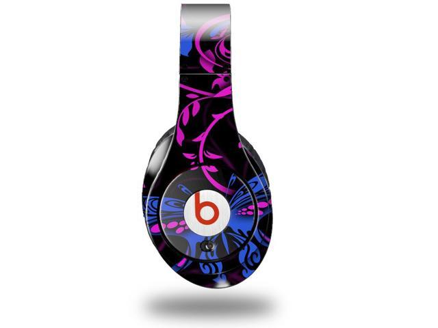 Twisted Garden Hot Pink and Blue Decal Style Skin (fits genuine Beats Studio Headphones - HEADPHONES NOT INCLUDED)