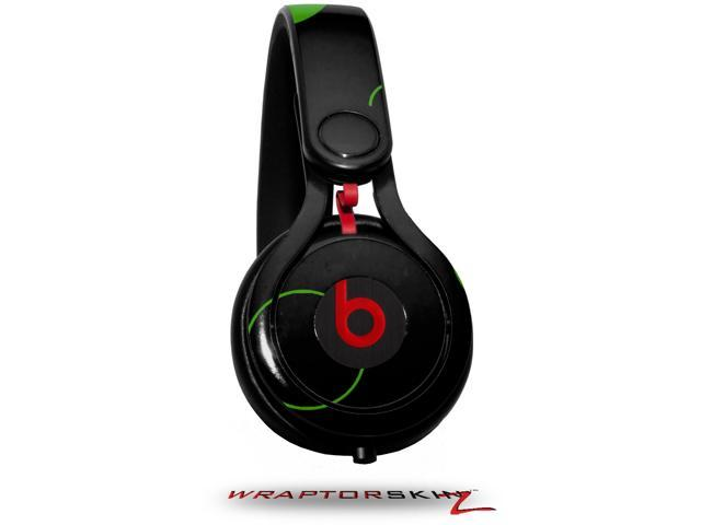 Lots of Dots Green on Black Decal Style Skin (fits genuine Beats Mixr Headphones - HEADPHONES NOT INCLUDED)