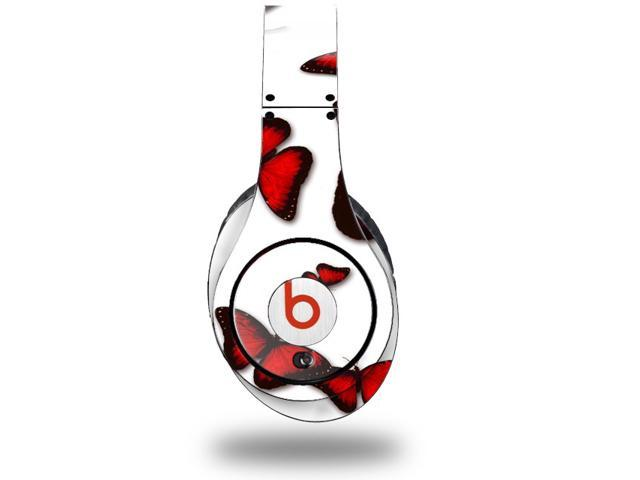 Butterflies Red Decal Style Skin (fits genuine Beats Studio Headphones - HEADPHONES NOT INCLUDED)