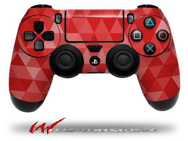 Triangle Mosaic Red - Decal Style Wrap Skin fits Sony PS4 Dualshock 4 Controller - CONTROLLER NOT INCLUDED