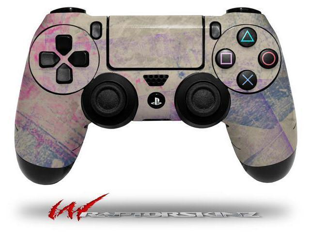 Pastel Abstract Pink and Blue - Decal Style Wrap Skin fits Sony PS4 Dualshock 4 Controller - CONTROLLER NOT INCLUDED
