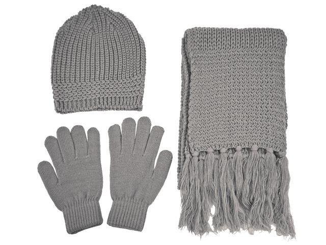 Bundle 12 Pieces Knitted Hat Gloves Scarf Set Winter Hat ...