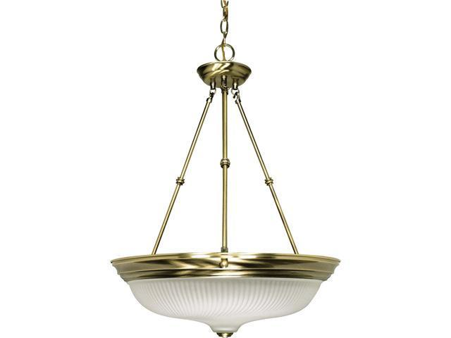 Nuvo 3 Light - 20 inch - Pendant - Frosted Swirl Glass