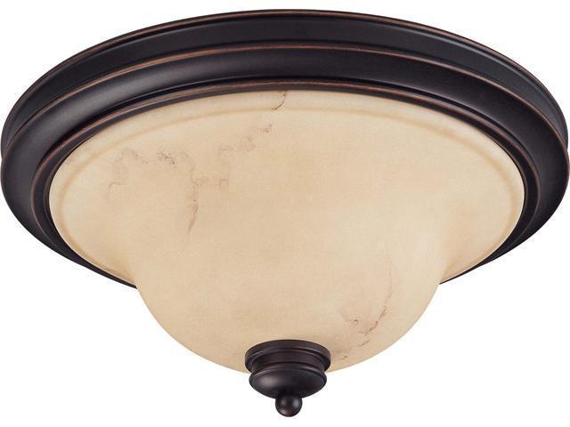 Nuvo Anastasia - 2 Light 15 inch Flush Dome w/ Honey Marble Glass