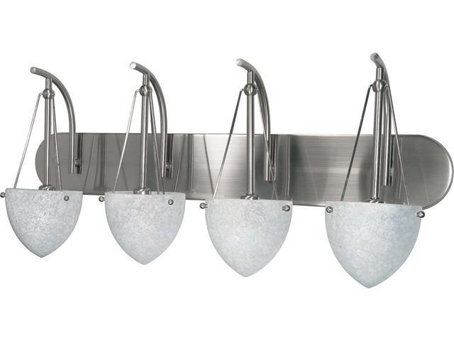 Nuvo South Beach - 4 Light - 30 inch - Vanity - w/ Water Spot Glass