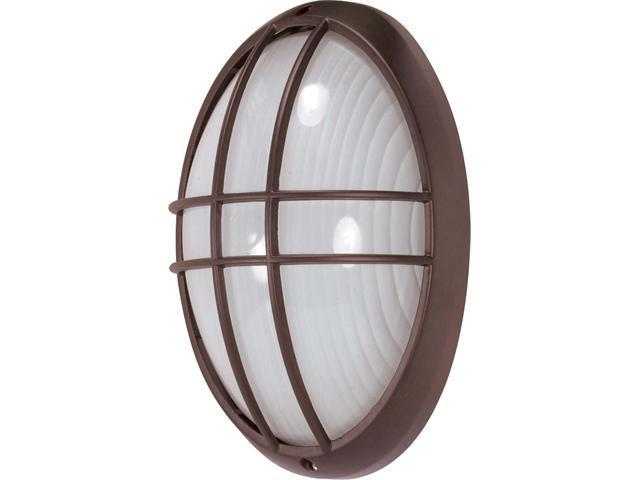 Nuvo 1 Light - 13 inch - Large Oval Cage Bulk Head - Die Cast Bulk Head