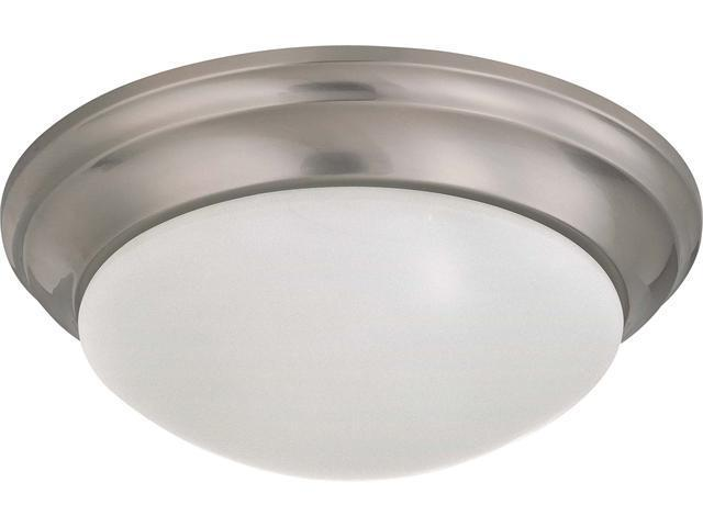 Nuvo 2 Light 14 inch Flush Mount Twist & Lock w/ Frosted White Glass - (2) 13w GU24 Lamps Incl.