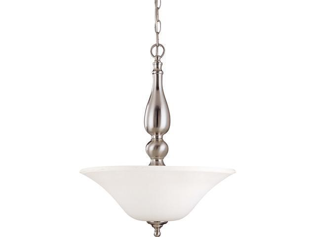 Nuvo Dupont - 3 Light Pendant w/ Satin White Glass