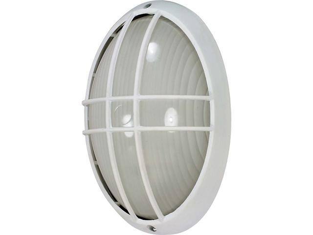 Nuvo 1 Light Cfl - 13 inch - Large Oval Cage Bulk Head - (1) 13W GU24 Lamp Included