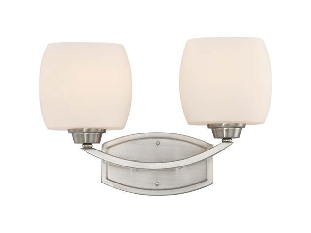 Nuvo Helium - 2 Light Vanity Fixture w/ Satin White Glass