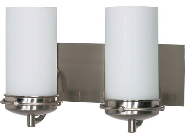 Nuvo Polaris - 2 Light - 14 inch - Vanity - w/ Satin Frosted Glass Shades