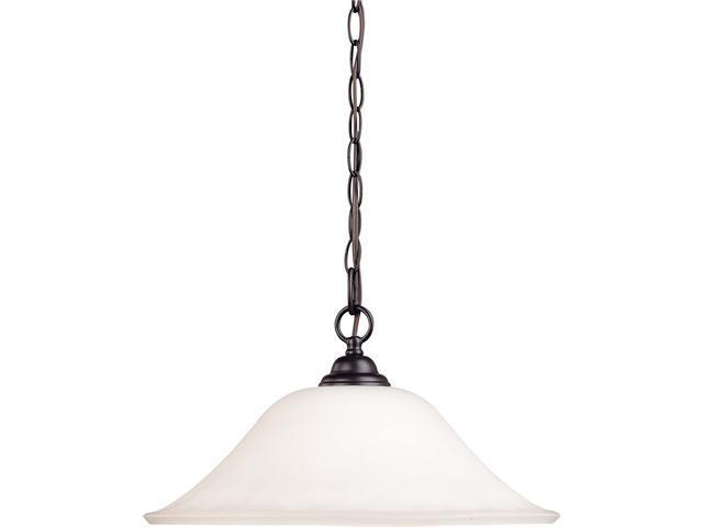 Nuvo Dupont - 1 Light 16 inch Hanging Dome w/ Satin White Glass