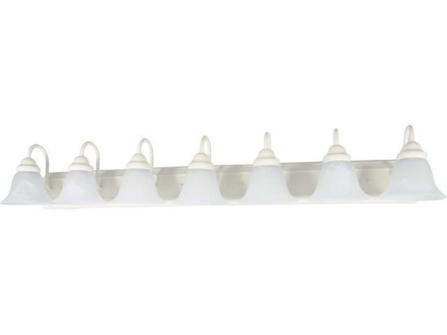 Nuvo Ballerina - 7 Light - 48 inch - Vanity - w/ Alabaster Glass Bell Shades