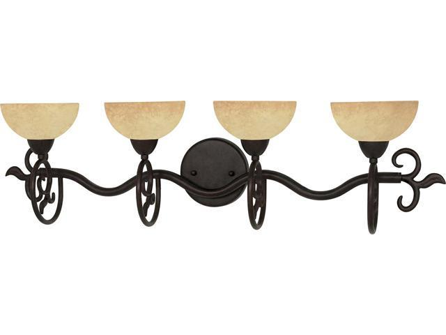 Nuvo Tapas - 4 Light - 32 inch - Vanity - w/ Tuscan Suede Glass