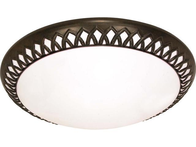 Nuvo Rustica - 3 Light Cfl - 17 inch - Flush Mount - (3) 18w GU24 Lamps Included