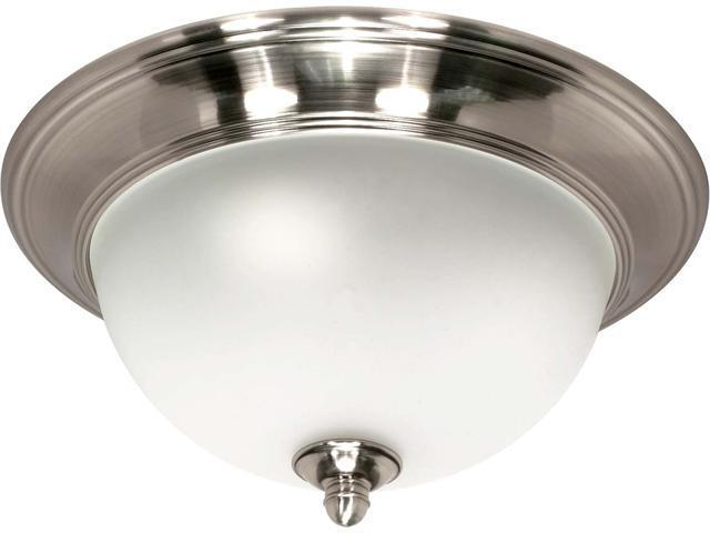 Nuvo Palladium - 1 Light - 12 inch - Flush Mount - w/ Satin Frosted Glass Shades