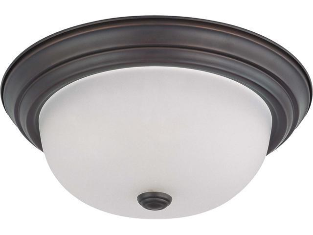 Nuvo 2 Light 13 inch Flush Mount w/ Frosted White Glass