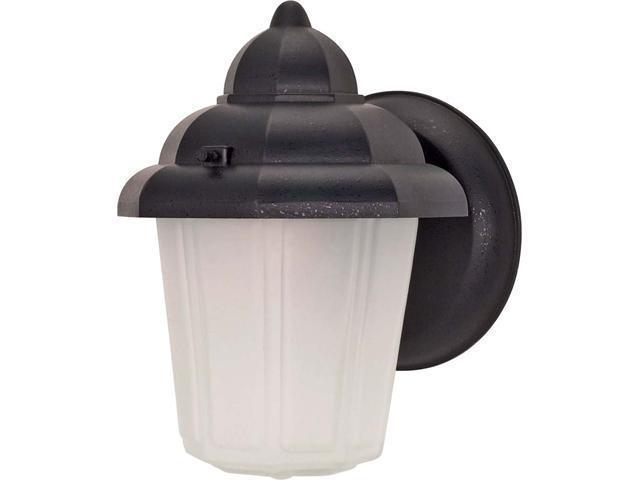 Nuvo 1 Light - 9 inch - Wall Lantern - Hood Lantern w/ Satin Frosted Glass
