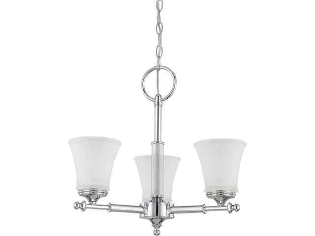 Nuvo Teller - 3 Light Chandelier w/ Frosted Etched Glass