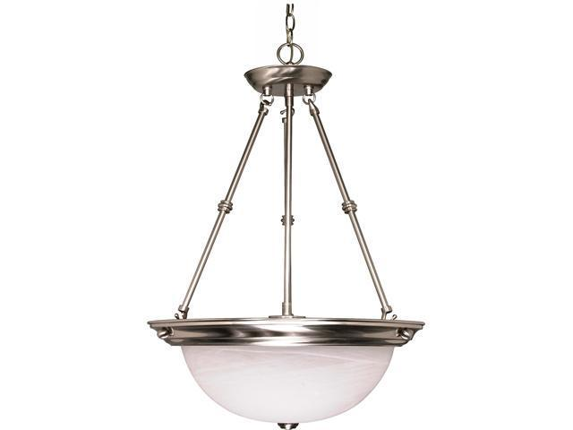 Nuvo 3 Light - 20 inch - Pendant - Alabaster Glass