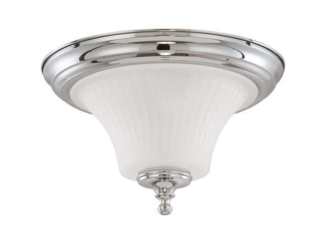 Nuvo Teller - 2 Light Flush Dome Fixture w/ Frosted Etched Glass
