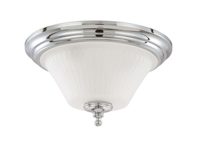 Nuvo Teller - 3 Light Flush Dome Fixture w/ Frosted Etched Glass