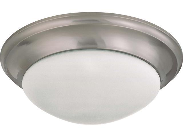 Nuvo 3 Light 17 inch Flush Mount Twist & Lock w/ Frosted White Glass