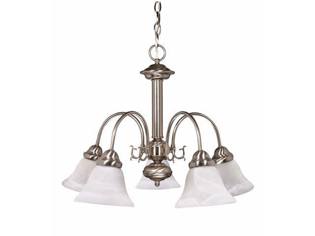 Nuvo Ballerina ES - 5 Light 24 in Chandelier w/ Alabaster Glass - 13w GU24 Lamps