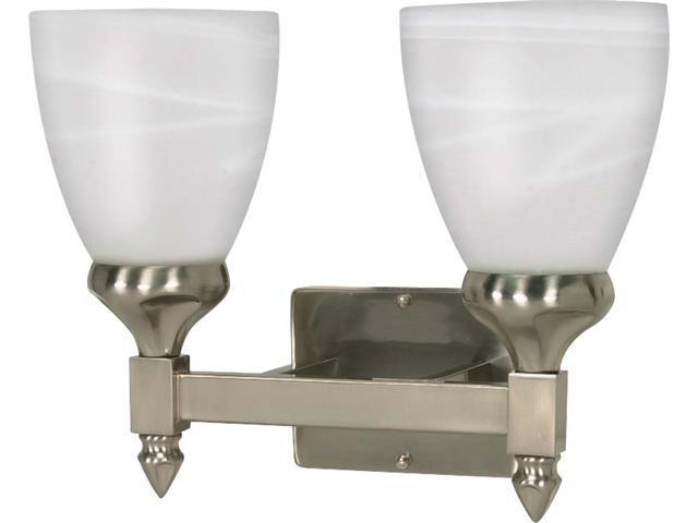 Nuvo Triumph - 2 Light - 13 inch - Vanity - w/ Sculptured Glass Shades - Newegg.com
