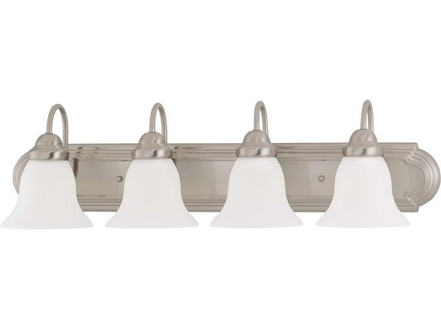 Nuvo Ballerina ES - 4 Light 30 inch Vanity w/ Frosted White Glass - (4) 13w GU24 Lamps Incl.