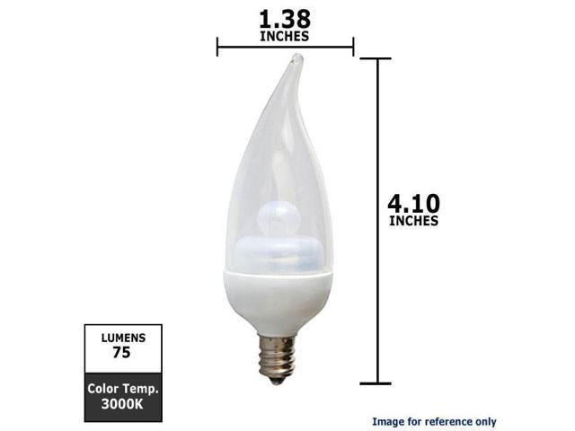 GE 1.8W 120V E12 3000k LED Energy Smart Candelabra Light Bulb