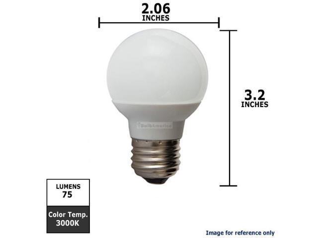 GE 1.8W 120V E26 Screw Base G16.5 LED Light Bulb