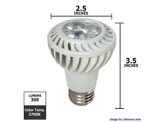 GE 7W 120V FL20 PAR20 2700k White Energy Smart LED Light Bulb