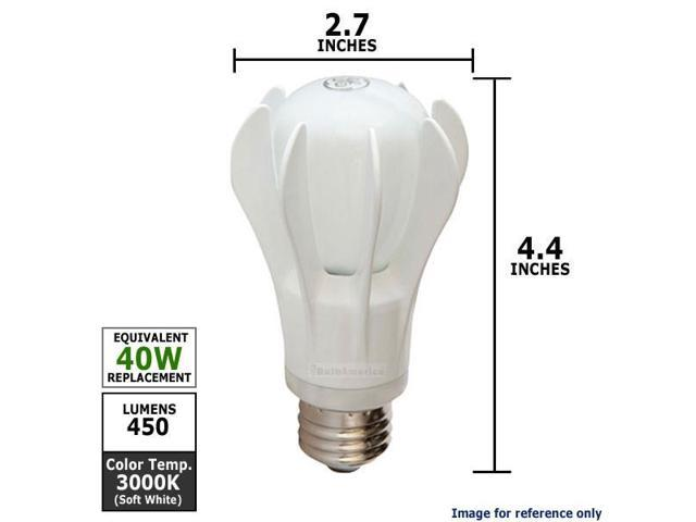 GE 9W 120V A-Shape White A19 LED 3000k Energy Smart Light Bulb