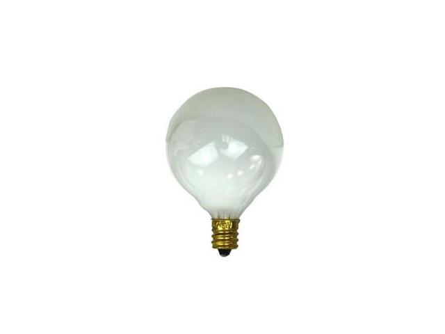 SUNLITE 40W 120V Globe G16.5 E12 White Incandescent Light Bulb