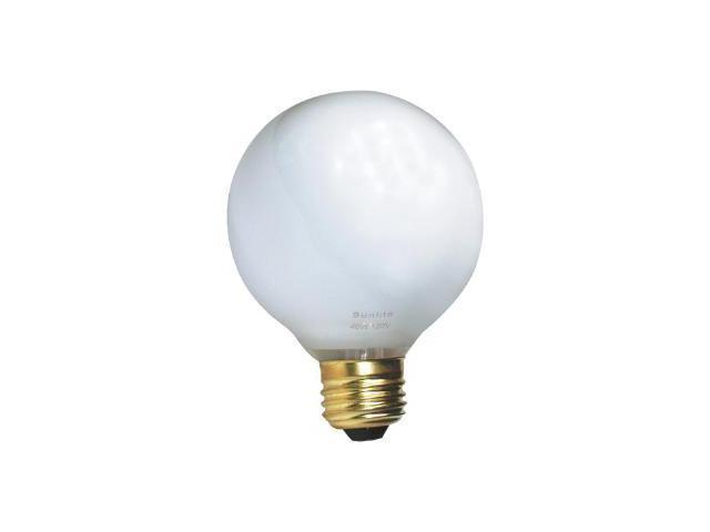 SUNLITE 100W 120V Globe G25 E26 White Incandescent Light Bulb